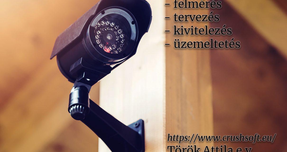biztonsági kamera telepítés